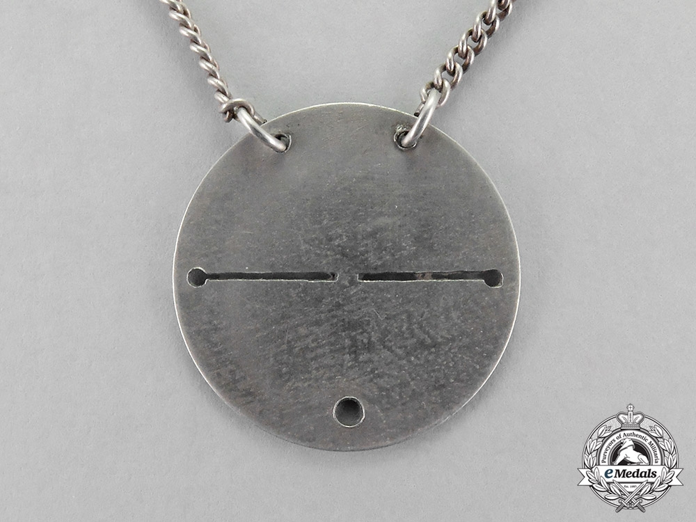 Germany, Imperial. A Privately Made Flyer's ID Dogtag Necklace