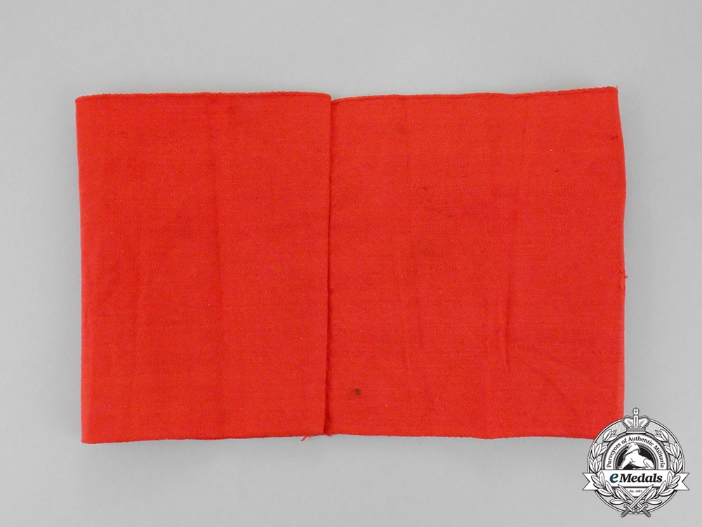 Germany. A Late War Manufacture NSDAP Supporter's Armband; RZM Tagged