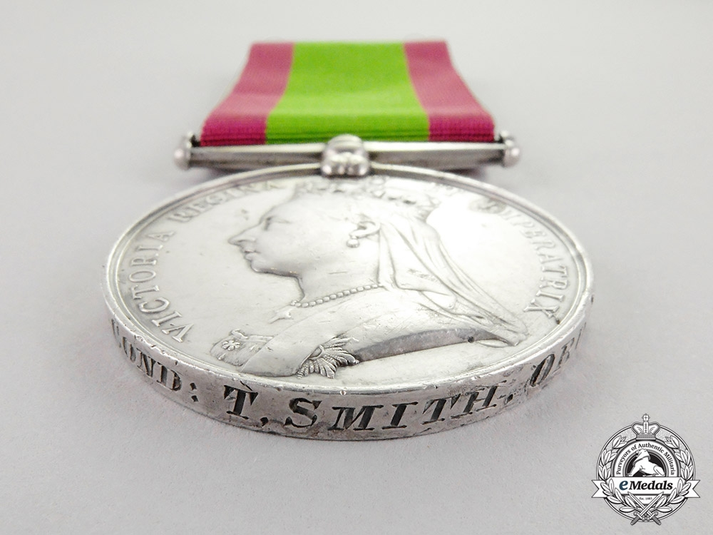 United Kingdom. An Afghanistan Medal 1878-1880, Sub-Conductor T. Smith, Ordnance Department