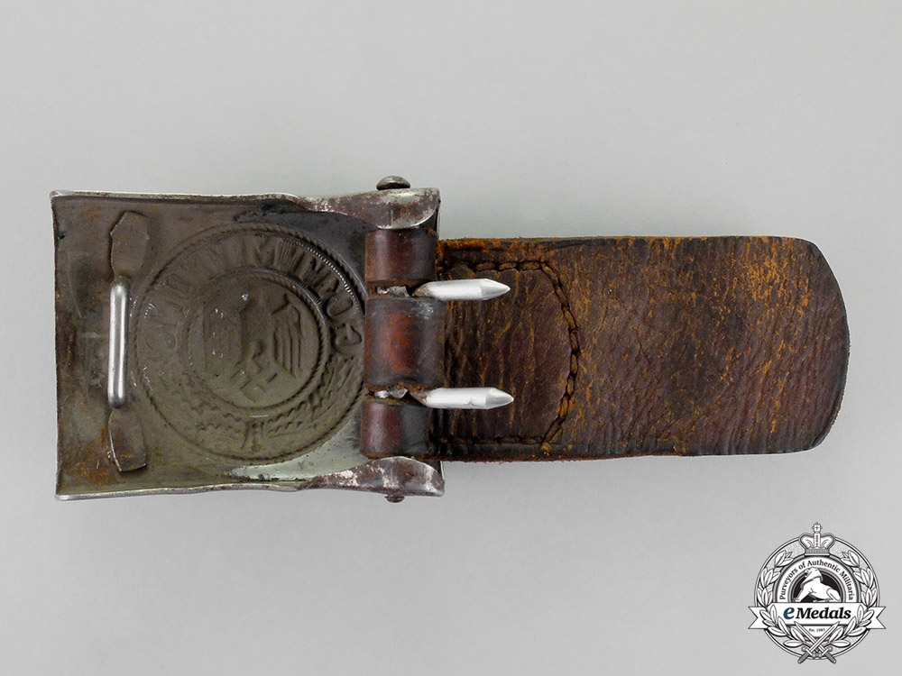 Germany. A Wehrmacht Heer (Army) Standard Issue EM/NCO's Belt and Buckle