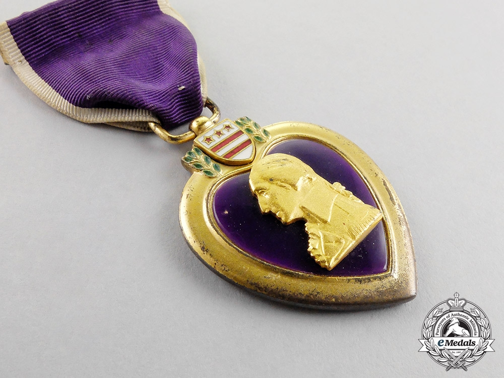 United States. A Pacific Theater Purple Heart to Private First Class John Frank Mostowski, Battle of Saipan