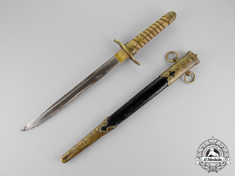 Japanese Empire. A Naval Officer's Dagger, c.1942