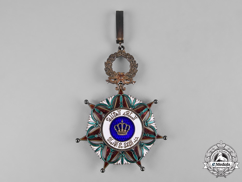 Iraq, Kingdom. An Order of the Two Rivers, II Class Commander's Badge, by Arthus Bertrand