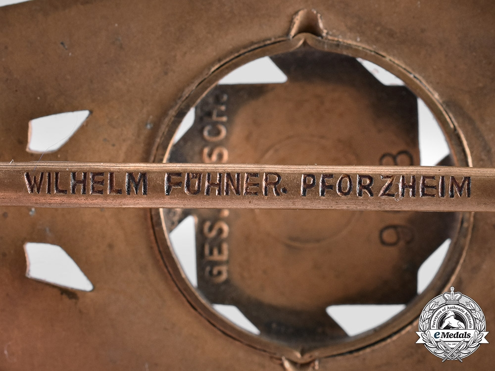 Germany, Third Reich. A Technische Nothilfe (Technical Emergency Help) Service Honour Badge by Wilhelm Fühner