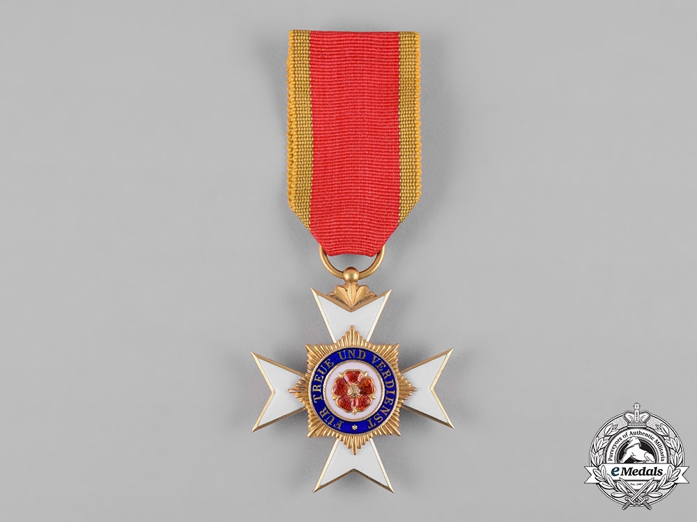 Lippe, Principality. A House Order of the Honour Cross in Gold, III Class, c.1900