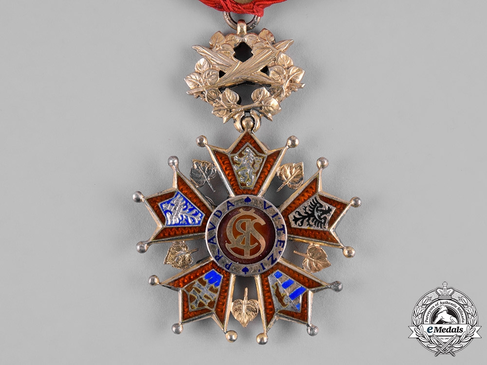 Czechoslovakia, Republic. A Order of the White Lion, IV Class Officer, by Karnet & Kysely, c.1925