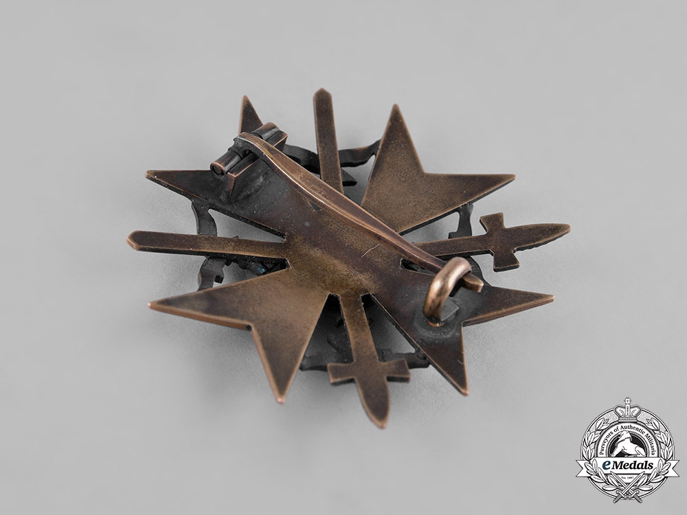Germany, Wehrmacht. A Spanish Cross in Bronze with Swords