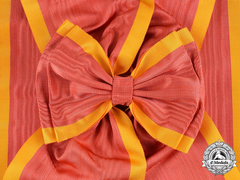 Spain, Kingdom. A Royal and Military Order of St. Ferdinand, I Class Grand Cross Sash