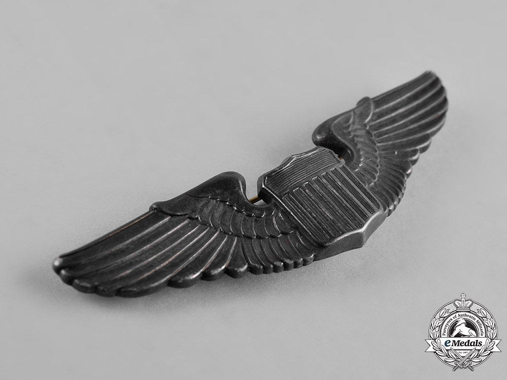 United States. A Second War Army Air Force Pilot Badge, c.1940