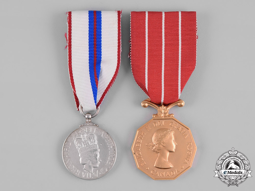 Canada. Two Awards & Decorations