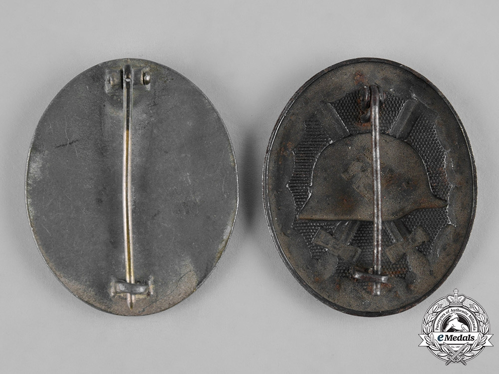 Germany, Wehrmacht. A Pair of Wound Badges