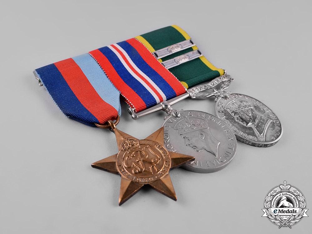United Kingdom. A Territorial Efficiency Medal Trio, to Corporal W.W. Garrod, Royal Signals