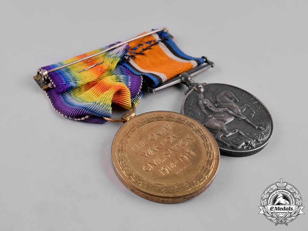 Canada. A First War Pair, to Private William Henry Harding,  Kootenay Battalion, 54th Infantry Battalion