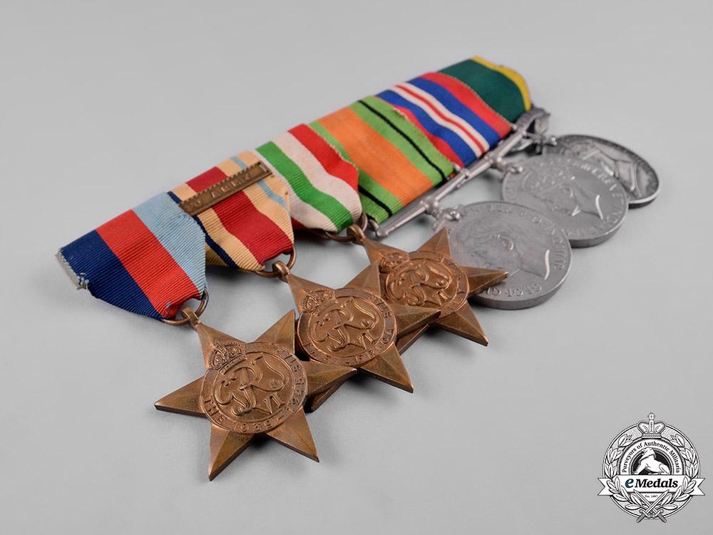 United Kingdom. A Territorial Efficiency Medal Group to Gunner C.V. Howe, Royal Artillery
