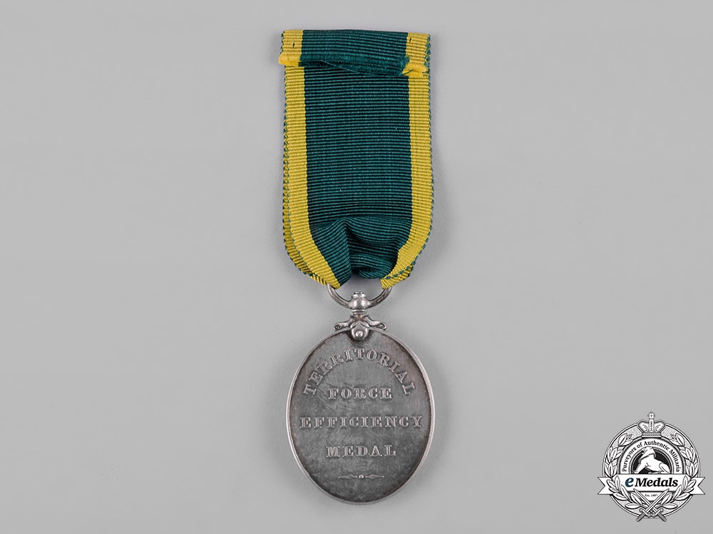 United Kingdom. A Territorial Force Efficiency Medal, North Midlands Field Ambulance