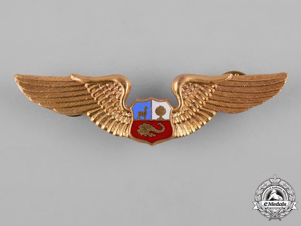 Peru, Republic. An Air Force Pilot Badge