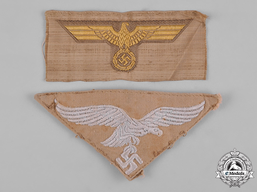 Germany, Wehrmacht. A Pair of Tropical Breast Eagles