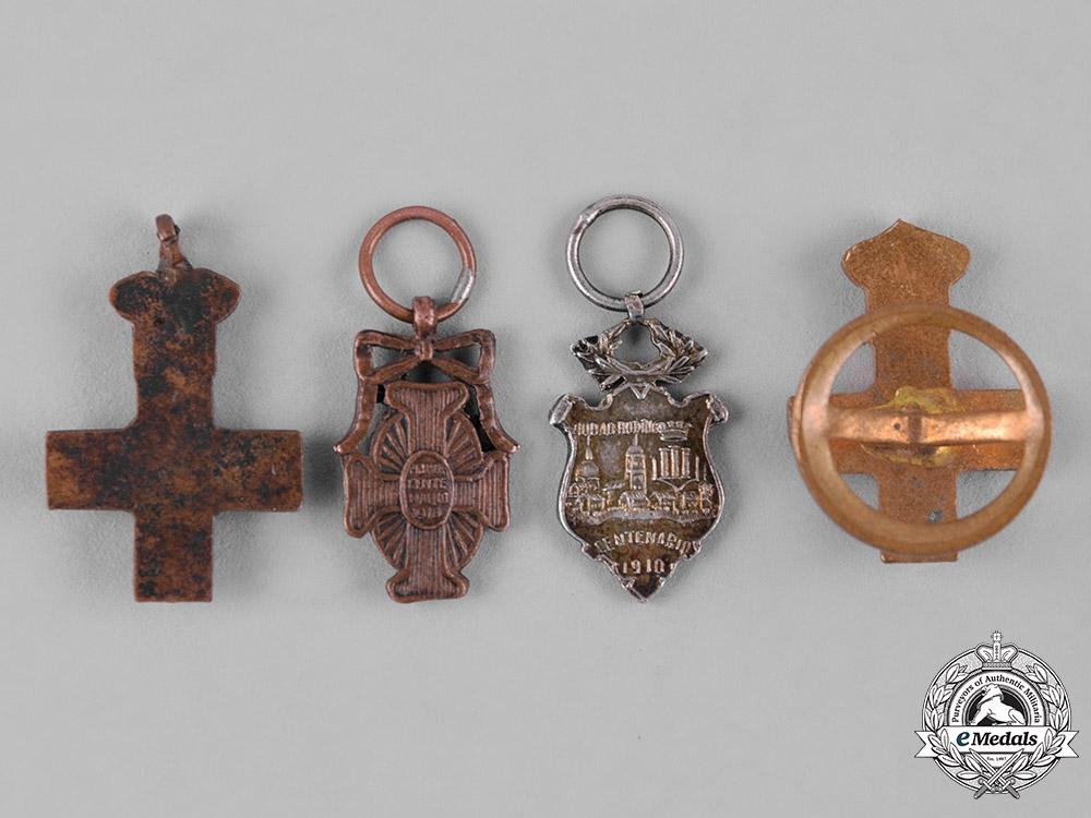 Spain, Kingdom. A Lot of Four Miniatures Decorations