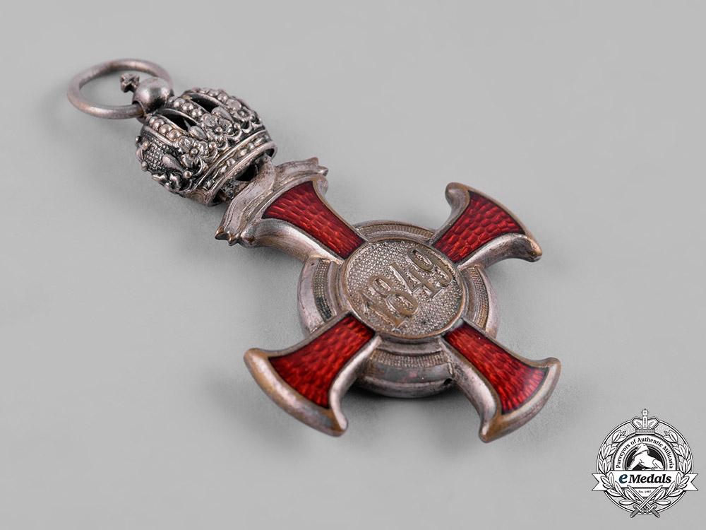Austria, Imperial. A Merit Cross in Silver with Crown, by J.G. Bergmann