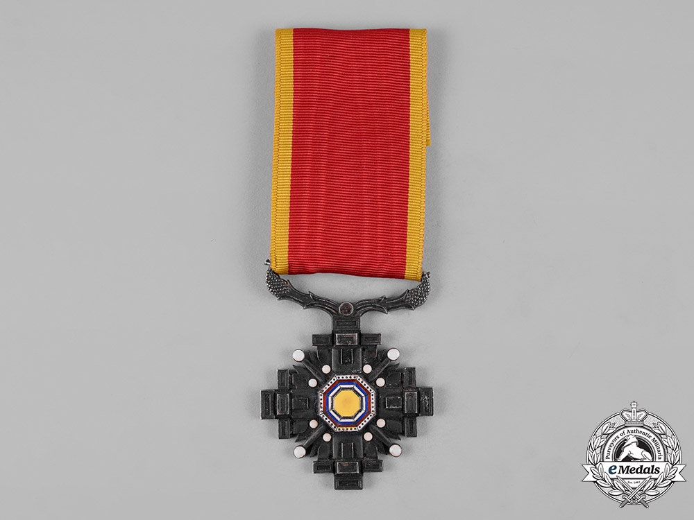 China, Occupied Manchukuo. An Order of the Pillars of the State, VIII Class