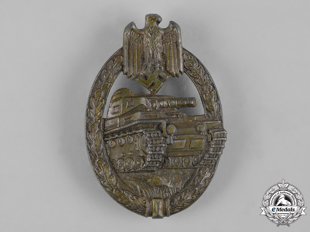 Germany, Wehrmacht. A Panzer Assault Badge, Bronze Grade, by Hermann Aurich