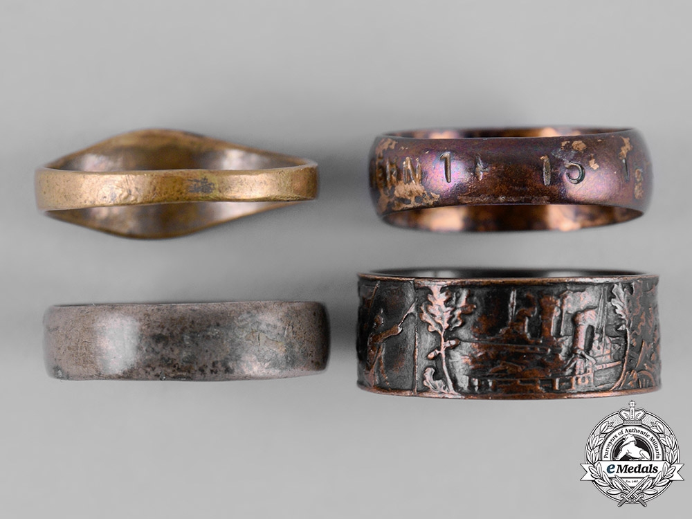 Germany, Imperial. A Lot of First War Period Army Rings