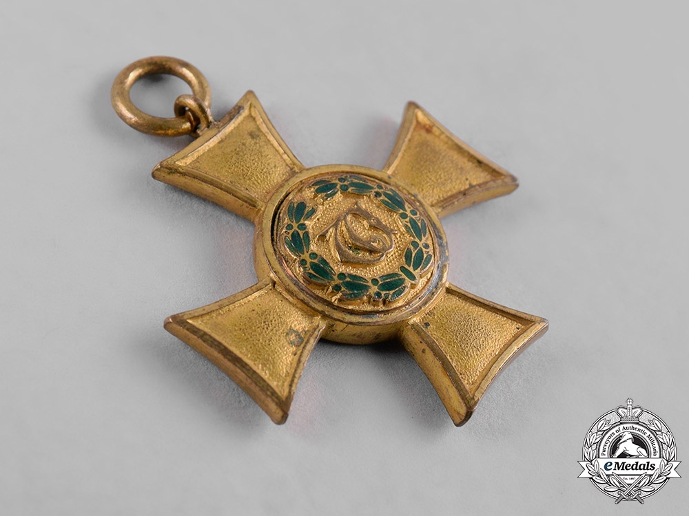 Württemberg, Kingdom. A Long Service Decoration, I Class Gold Cross for Officer