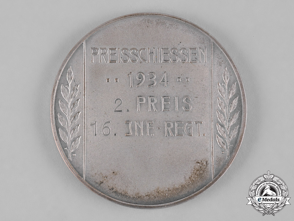 Germany, Heer. A 1934 Heer II Place Shooting Competition Medal