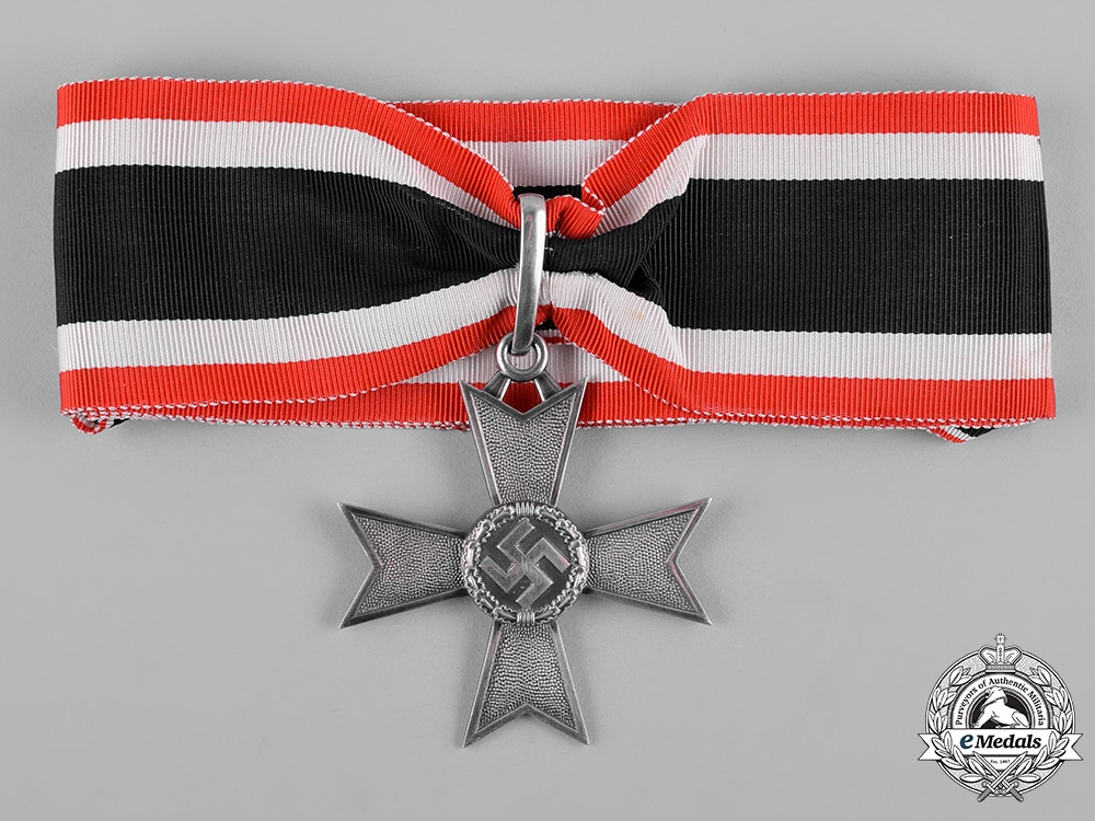 Germany, Wehrmacht. A Knight's Cross of the War Merit Cross, Without Swords, by C.F. Zimmermann