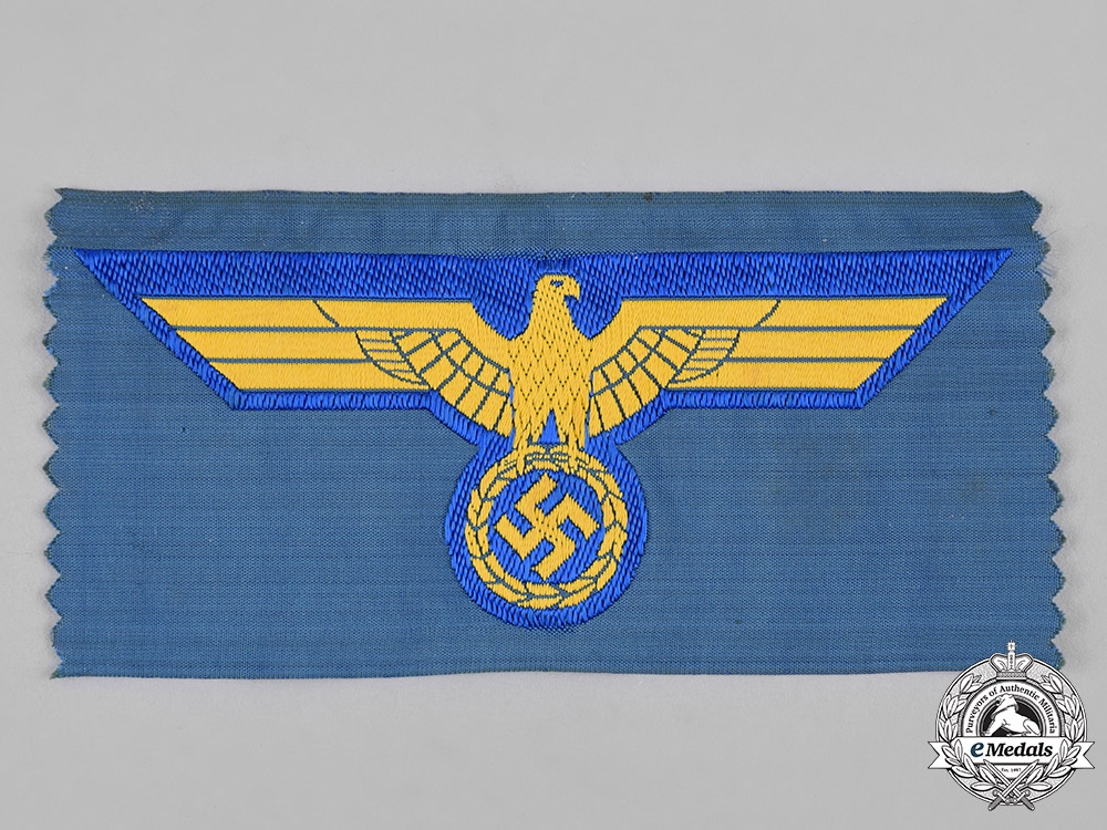 Germany, Kriegsmarine. An EM/NCO's Tunic Breast Eagle