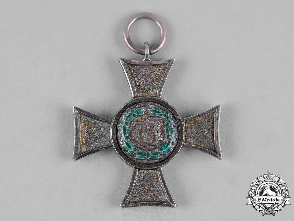Württemberg, Kingdom. A 21-Year Long and Devoted Service Cross, II Class
