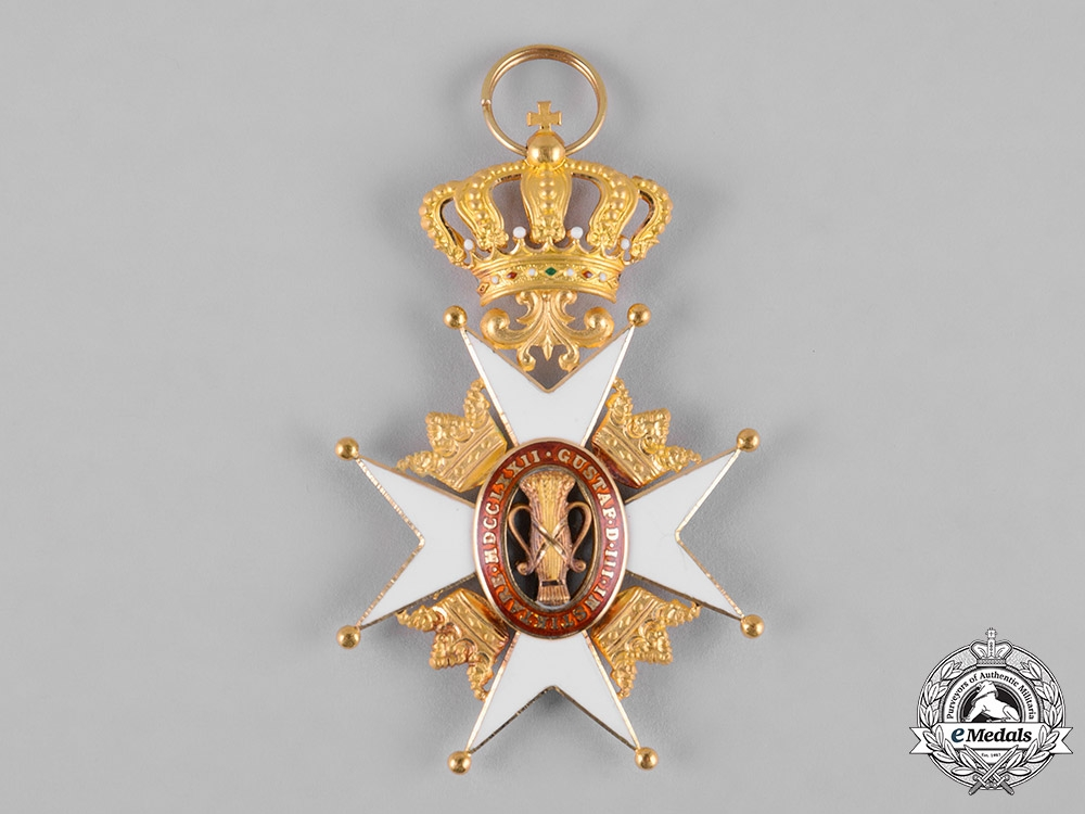 Sweden, Kingdom. An Order of Vasa in Gold, I Class Knight, by C.F. Carlman