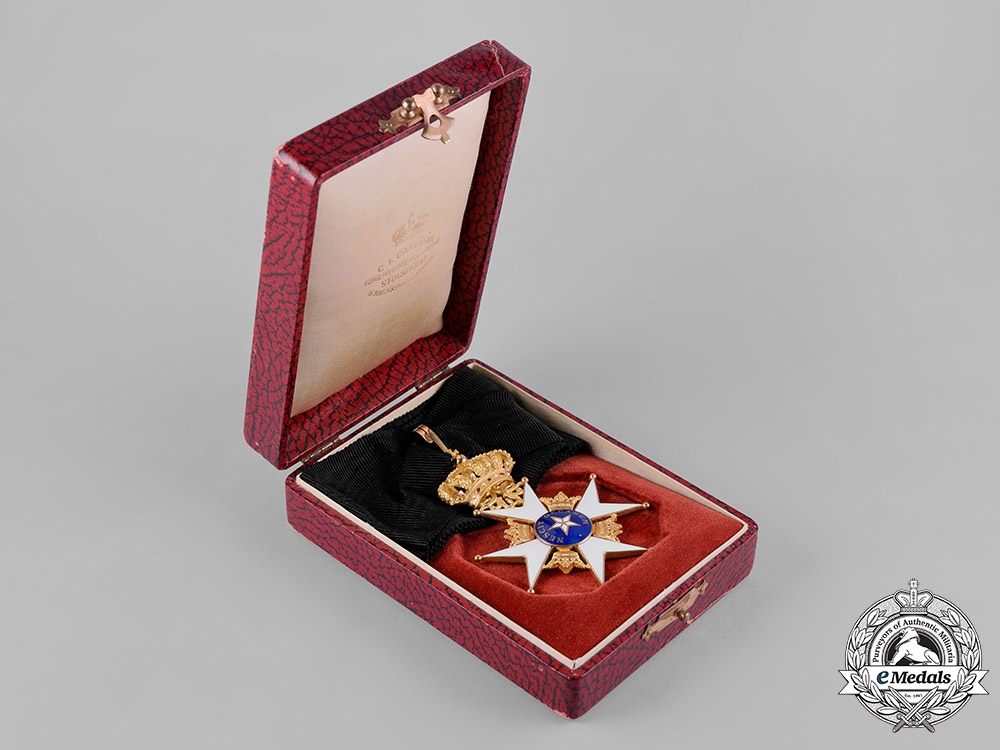 Sweden. An Order of the North Star in Gold, Commander, by C.F.Carlman