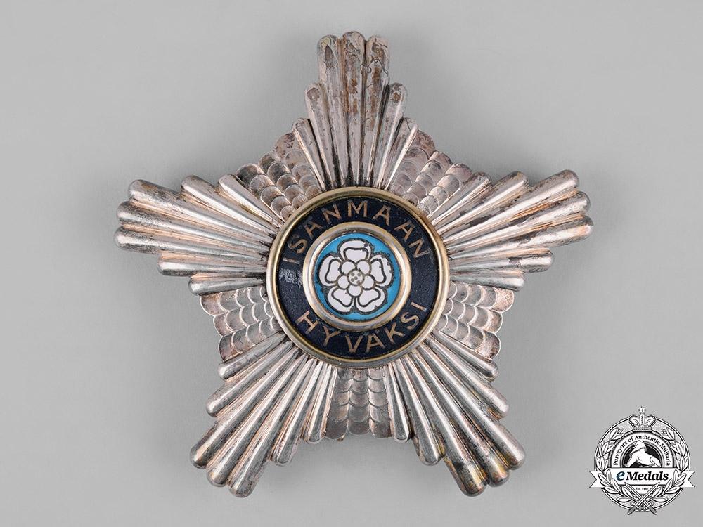 Finland, Republic. An Order of the White Rose, Commander Star, by Alexander Tillander