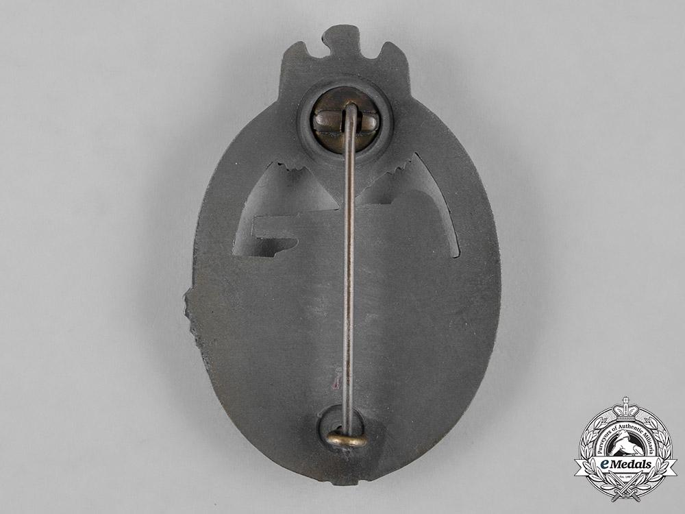Germany, Wehrmacht. A Panzer Assault Badge, Bronze Grade, by Hermann Aurich