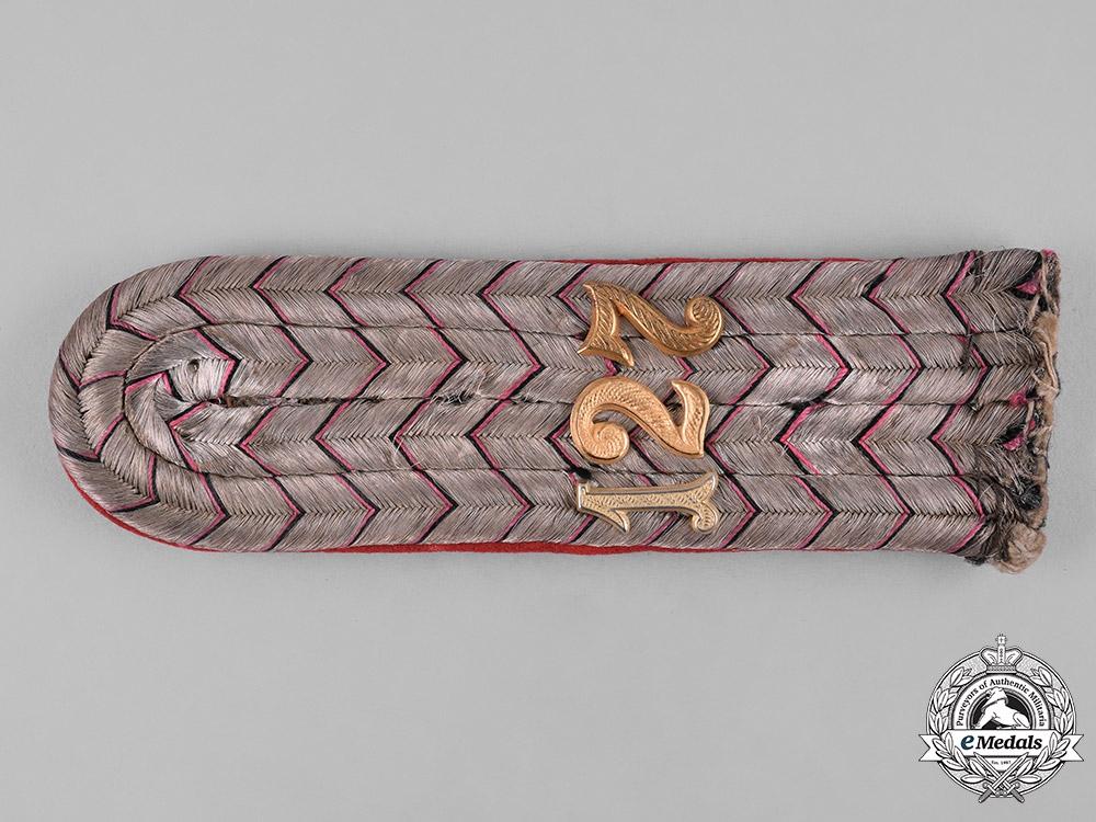 Germany, Imperial. A 9th Württemberg Regiment Leutnant Shoulder Board