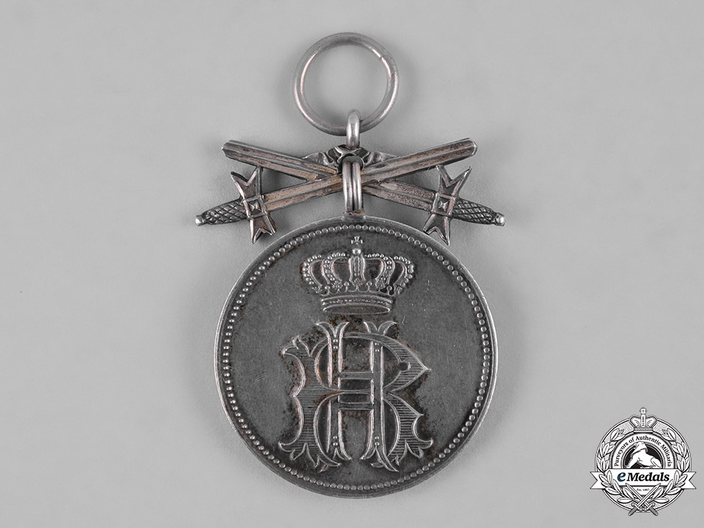 Reuss, County. A Silver Merit Medal of the Princely Honour Cross with Swords, c.1915