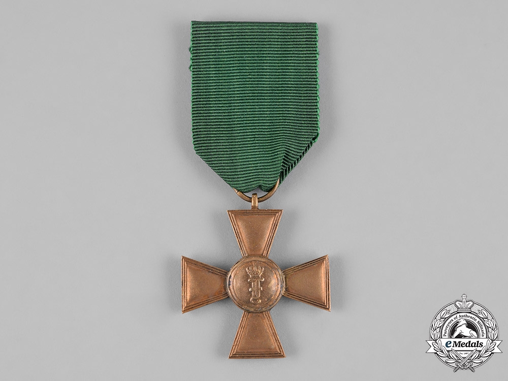 Anhalt, Duchy. An Army Long Service Cross for 15 Years of Service