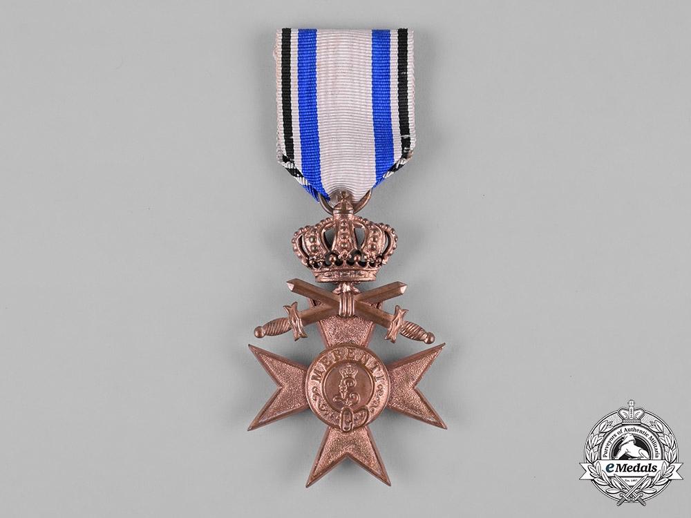Bavaria, Kingdom. A Military Merit Cross, III Class with Swords & Crown