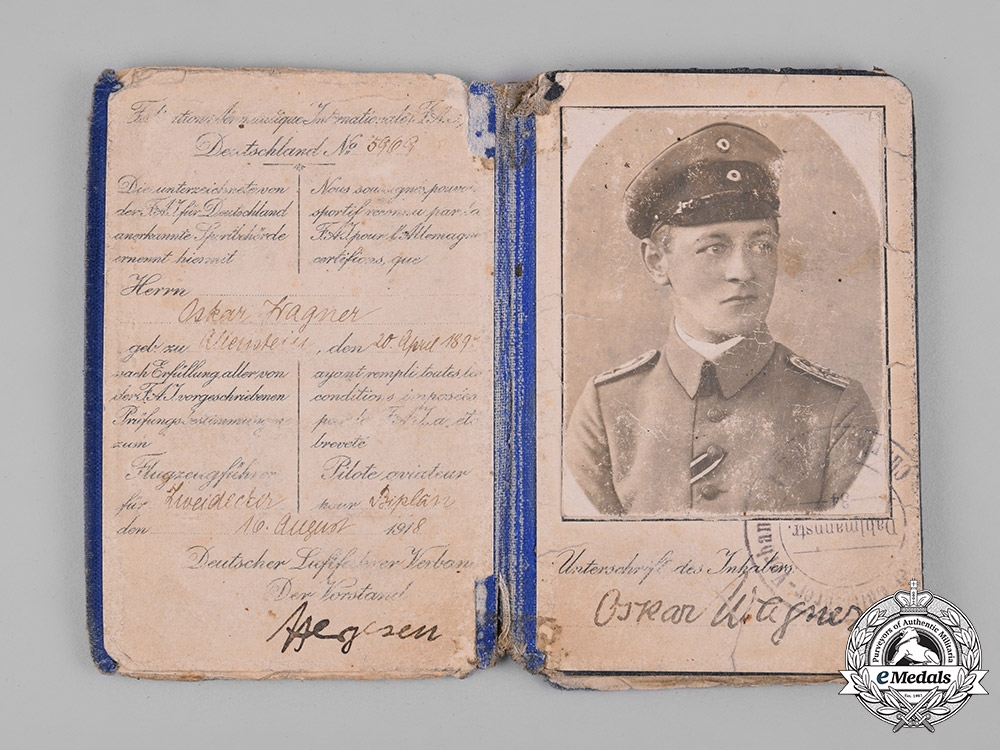 Germany, Imperial. A First War Flyer's Group of Oskar Wagner