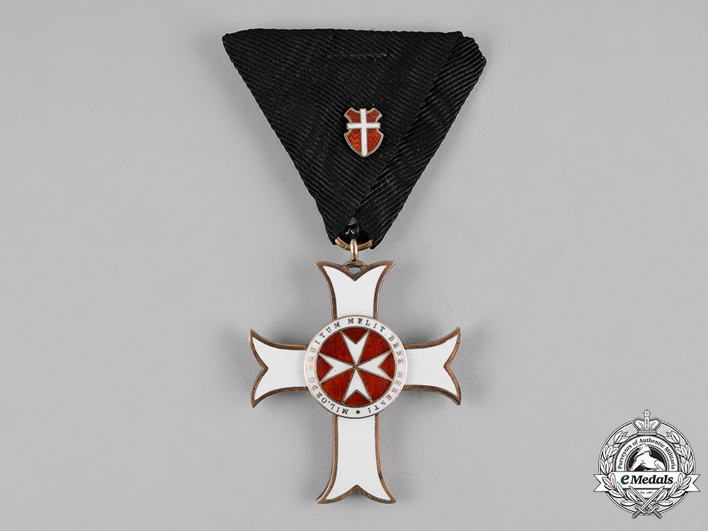 Austria, Imperial. An Order of the Knights of Malta, II Class Cross of Merit with War Decoration, c.1916