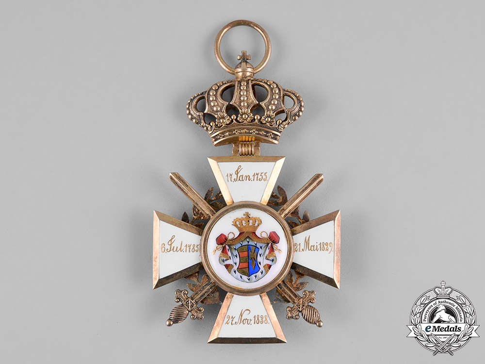 Oldenburg, Grand Duchy. A House & Merit Order of Peter Friedrich Ludwig, Golden Grand Cross with Swords & Laurels