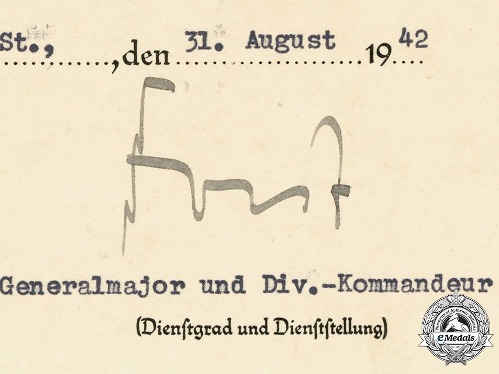 Germany, Heer.  A Set of Award Documents to the 7th Company, Artillery Regiment 293, 1942