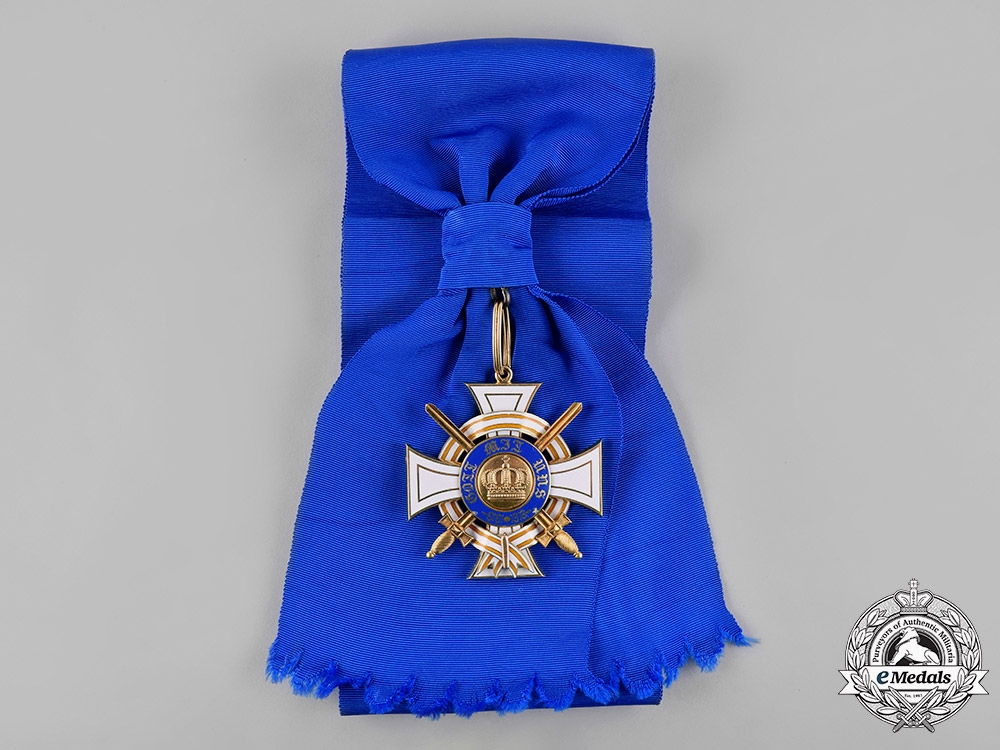 Prussia, Kingdom. An Order of the Crown in Gold, I Class with Swords & Ribbon of the Red Eagle Order, by Johann Wagner & Sohn