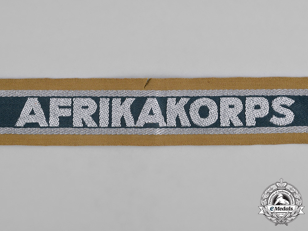 Germany, Heer. An Army Issued Afrika Korps Cuff Title