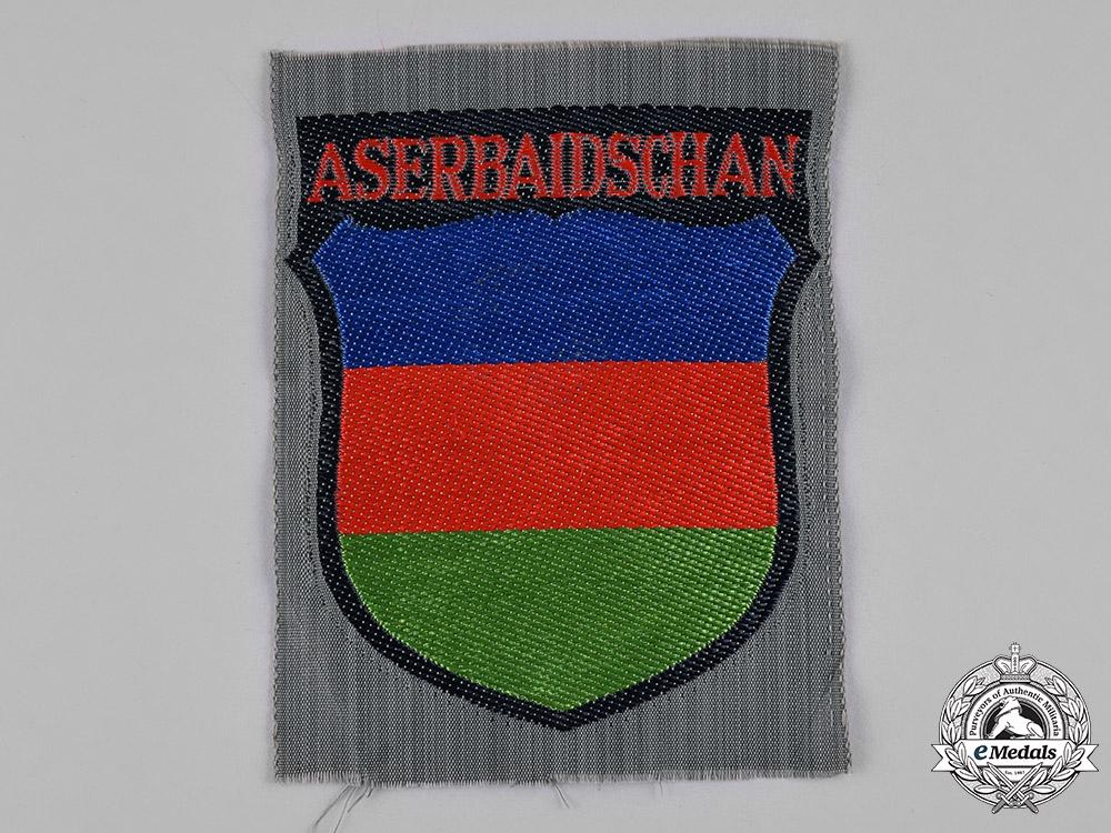 Germany, Third Reich. An Azerbaijani Volunteer Service Sleeve Insignia