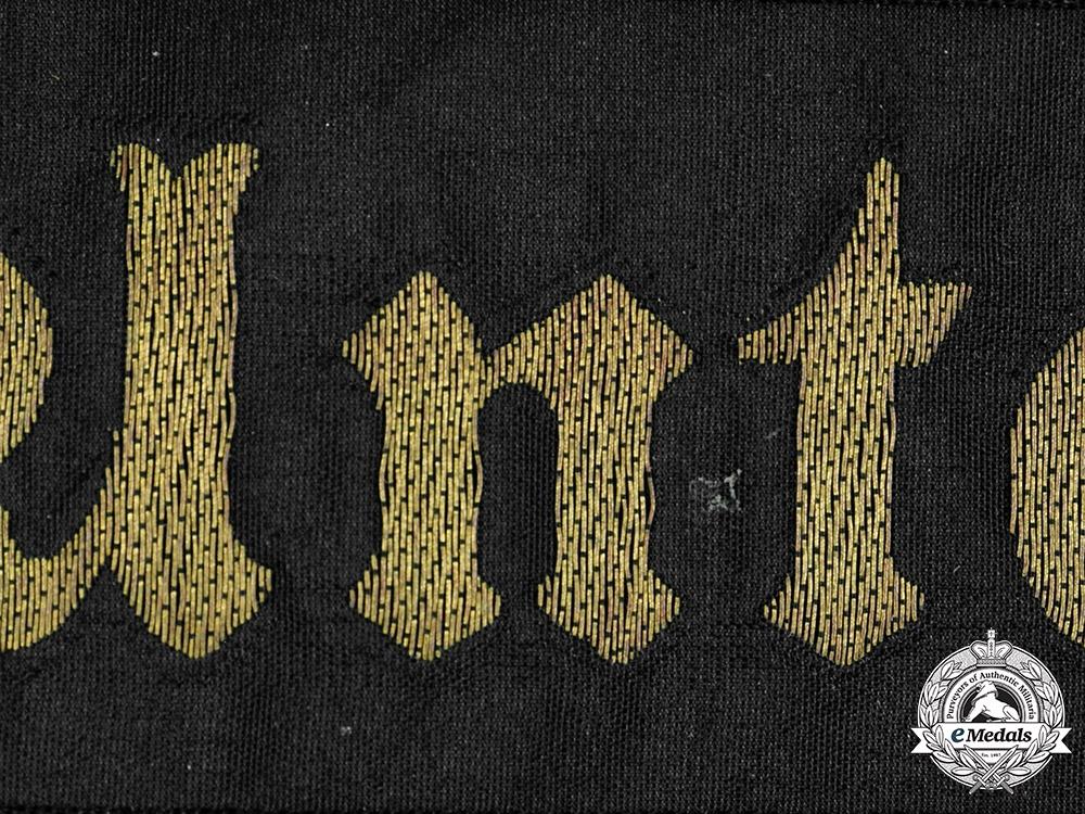Germany, Kriegsmarine. An Unterseebootsabwehrschule Cap Ribbon