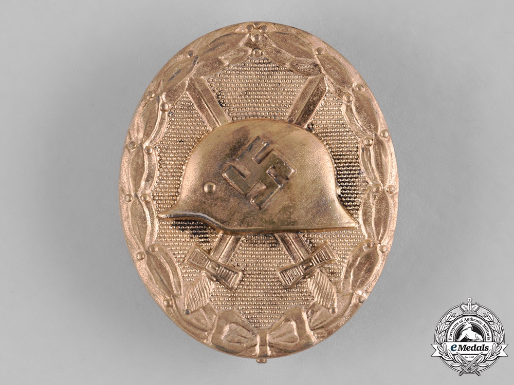 Germany, Wehrmacht. A Wound Badge, Gold Grade, by Hauptmünzamt