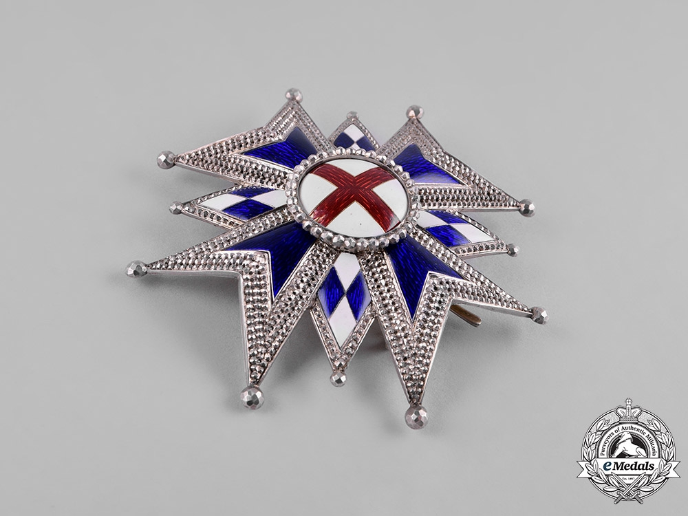 Bavaria, Kingdom. A Military House Order of St.George, Grand Cross Star, by Eduard Quellhorst, c. 1858