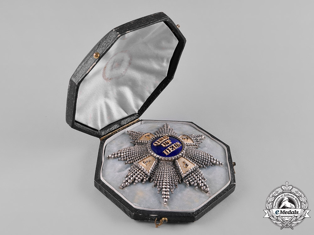 Bavaria, Kingdom. An Exquisite Merit Order of St. Michael, Grand Cross Star with Case, by Eduard Quellhorst, c.1860